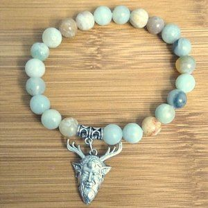 New Unisex Lovely Amazonite Gem Stone Bracelet